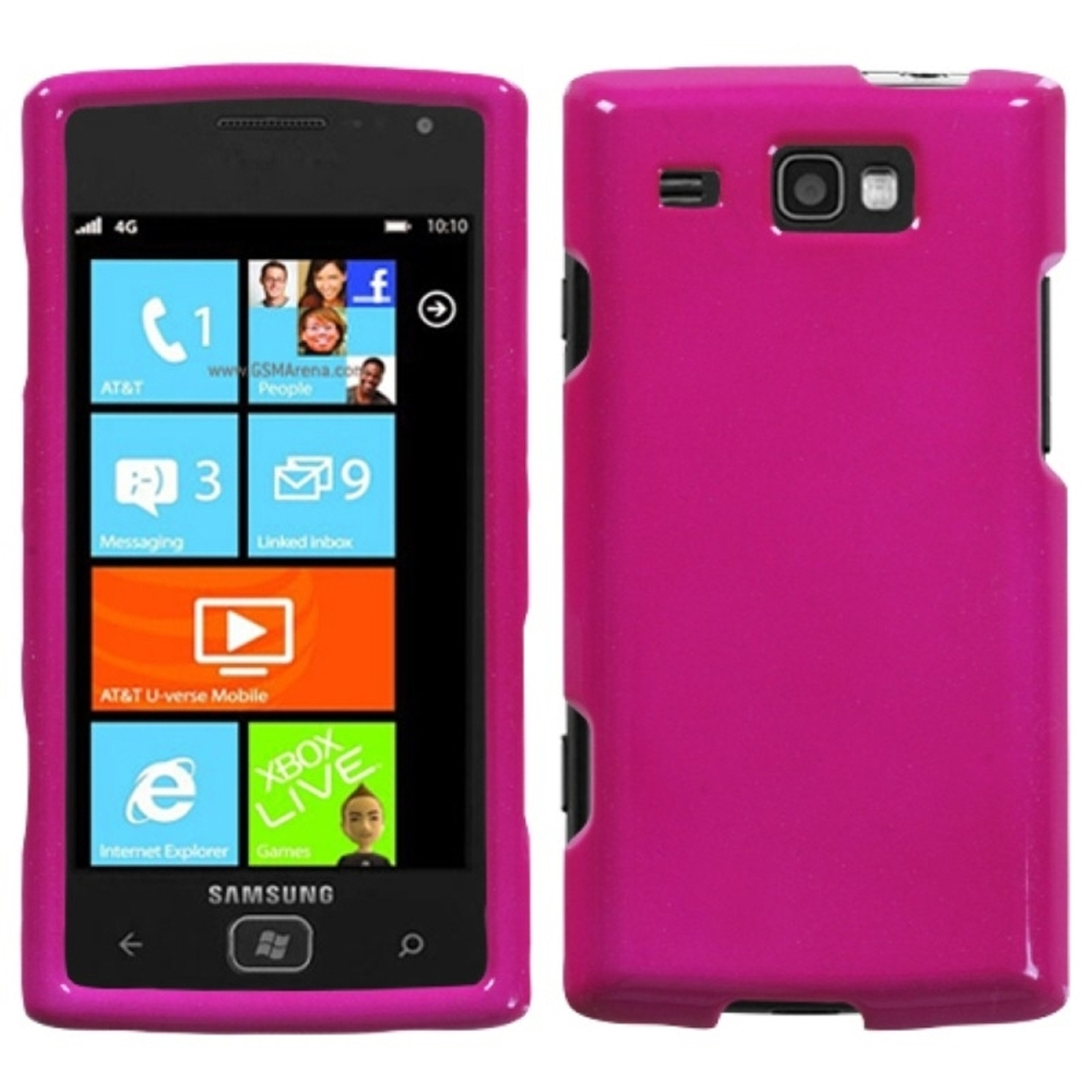 Insten Solid Hot Pink Phone Case for SAMSUNG: i677 (Focus Flash)