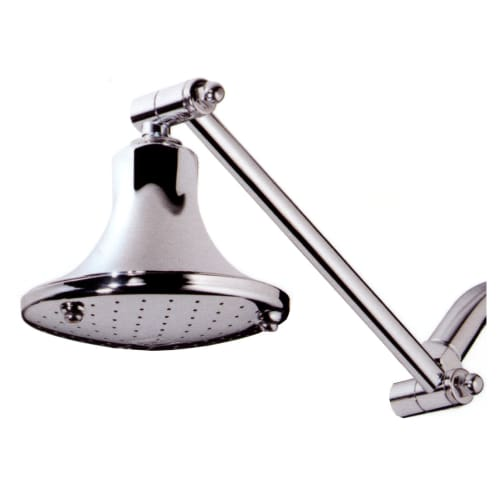"Speakman S-2555 Downpour Rain Shower Head with 10"" Pivoting Extension Arm and 5"""