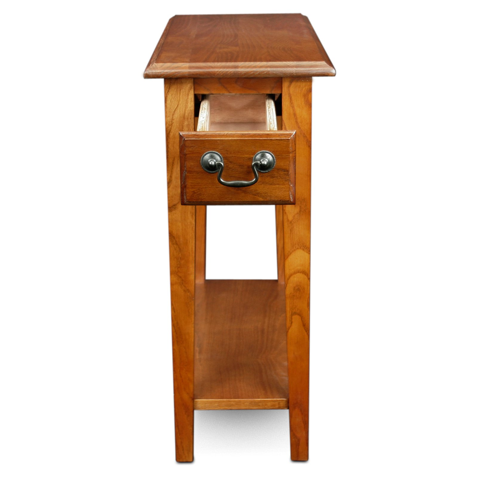 Hardwood 10 Inch Chairside End Table In Medium Oak Walmartcom
