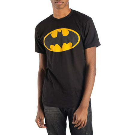 Dc Batman men's reflective logo short sleeve graphic t-shirt, up to size 3xl