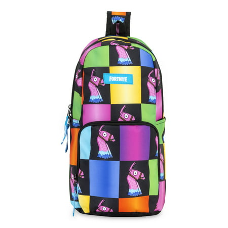 Fortnite Amplify Rainbow Checkered Sling Backpack