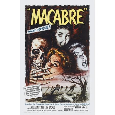 Macabre Us Poster Art 1958 Movie Poster Masterprint - Macabre Halloween Art