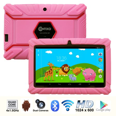"Contixo (LA703-KIDS-2 Pink) 7"" Kids Tablet K2 