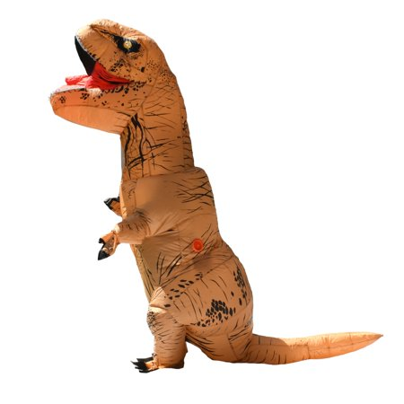 ALEKO Halloween Inflatable Dinosaur Party Costume - Tyrannosaurus Rex - Adult Sized