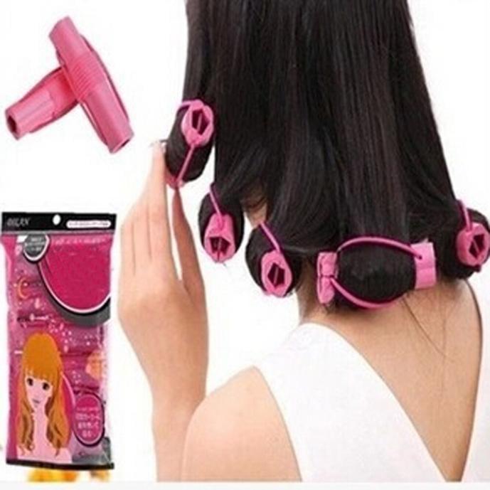 6PCS Curler Makers Soft Foam Bendy Twist Curls DIY Styling Hair Rollers