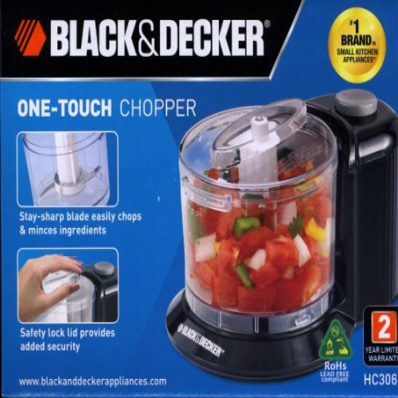 Black & Decker HC306B 1-1 2-Cup One-Touch Electric Chopper by