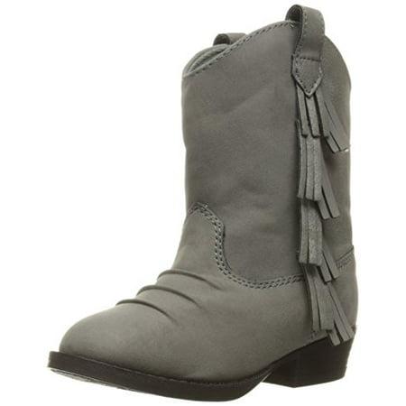 Baby Deer Girls' Western Fringe Toddler Boot, Grey, 7 M US Toddler](Baby Western Boots)