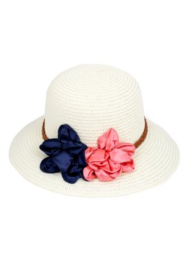 40d7e081aab0c Product Image Lady Women Vacation Summer Beach Sun Floppy Wide Brim Floral  Straw Hat Off White
