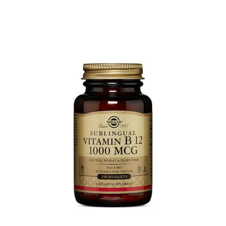 Solgar Vitamin B12 1000 mcg Nuggets, 250 Ct