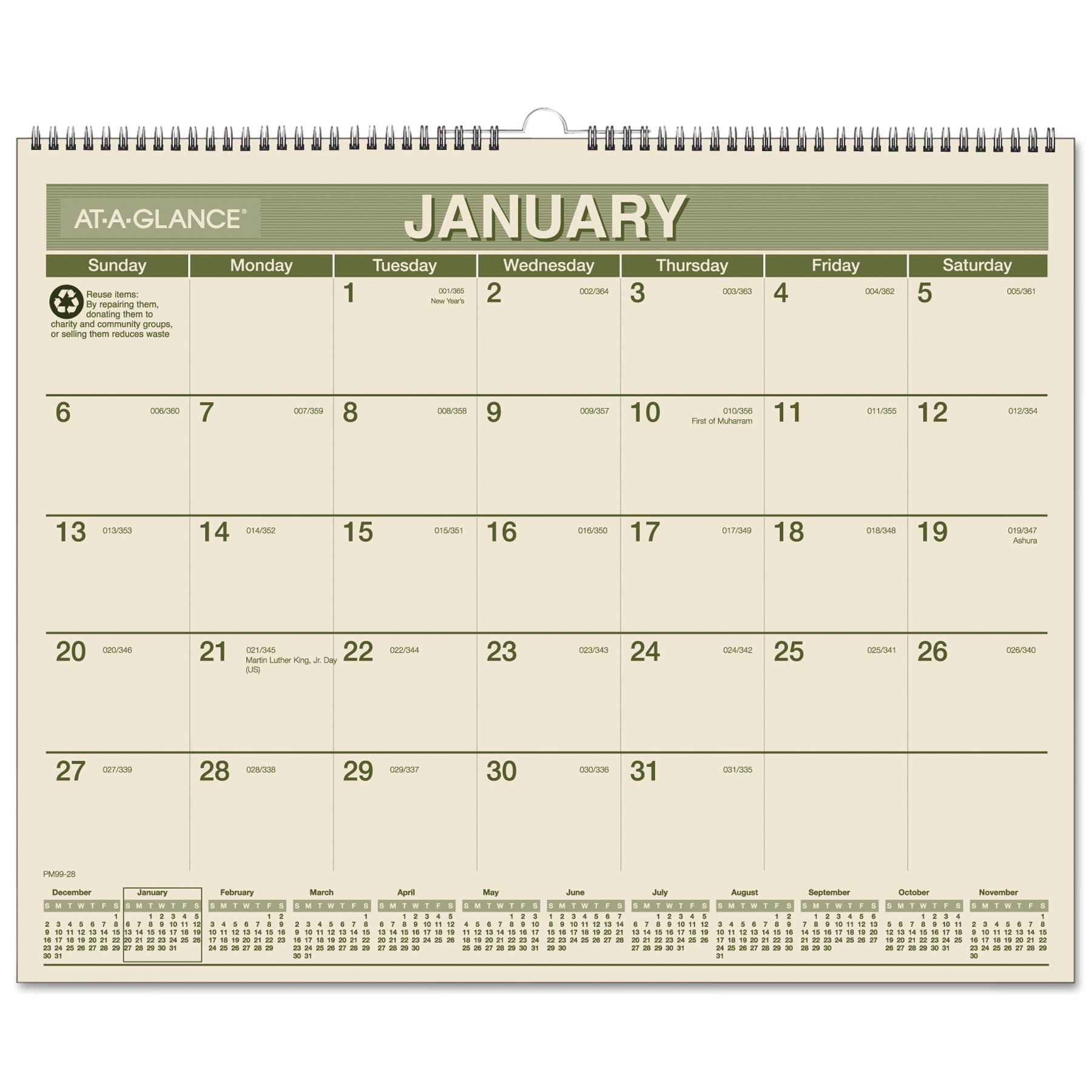 AT-A-GLANCE Recycled Wall Calendar, 15 x 12, 2018 by AT-A-GLANCE