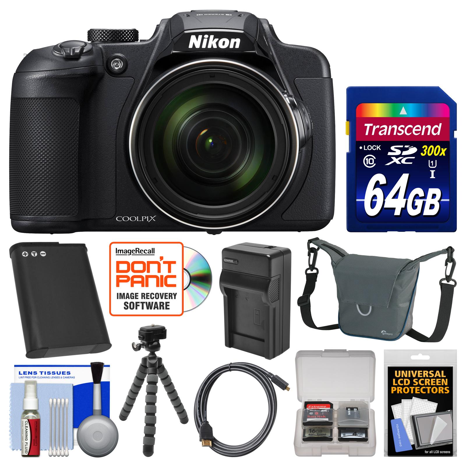 Nikon Coolpix B700 4K Wi-Fi Digital Camera with 64GB Card...