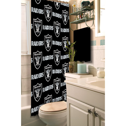 Oakland Raiders Decorative Bath Collection - Shower Curtain