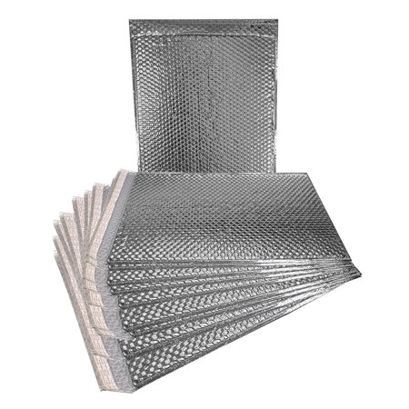 100 Pack Metallic Bubble mailers 12 x 17 Silver Padded envelopes 12x17. Glamour Bubble mailers Peel and Seal. Padded Mailing Envelopes for Shipping, Packing, Packaging.](Silver Bubble)