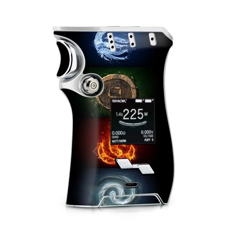 Skins Decals for Smok Mag + TFV12 Prince tank Vape / Elements Water Earth Fire Air - Air Mags Fake