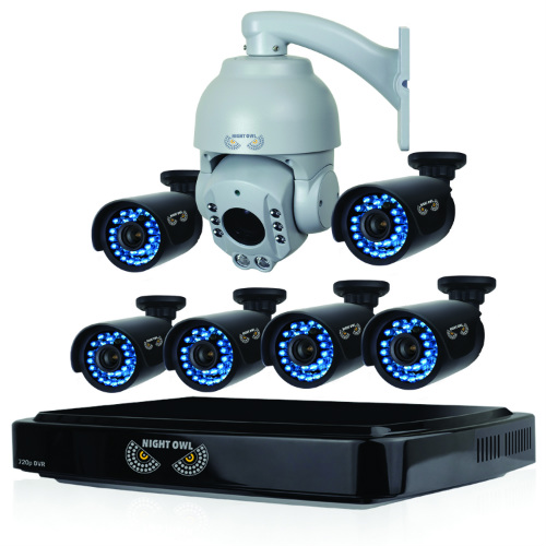 Night Owl B-A720-81-6-1PTZ 8 Channel HD (AHD) Video Security System-6 HD Cameras