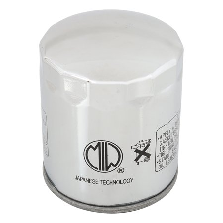 MIW BU10001--004 Oil Filter for Harley FLHRS Road King Custom 04 05 06 07, FLHRSE CVO Road King 14, FLHRSE3 Screamin Eagle Road King 07, FLHRSE4 Screamin Eagle Road King 08 (06 Screamin Eagle)