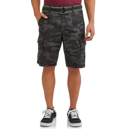 Men's Stretch Ripstop Belted Cargo Shorts (Express Shorts Mens)
