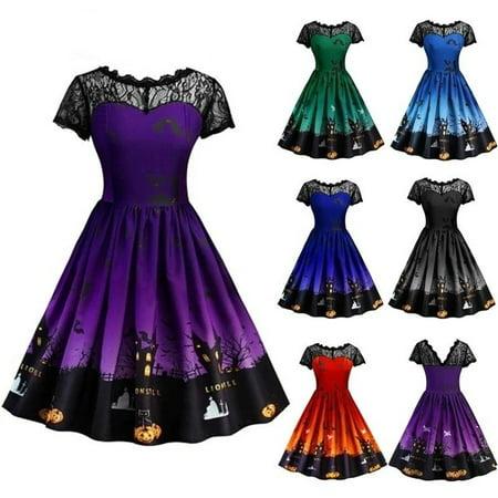 Dress In Drag For Halloween (Women's Lace Insert Halloween)
