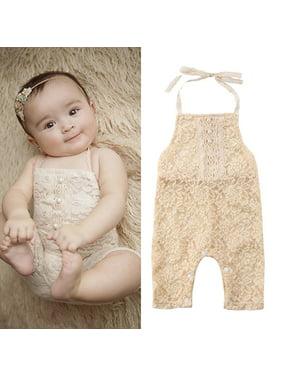 aed148d88 Product Image Urkutoba Newborn Baby Girls Lace Floral Ruffle Romper  Bodysuit Jumpsuit Outfits Sunsuit