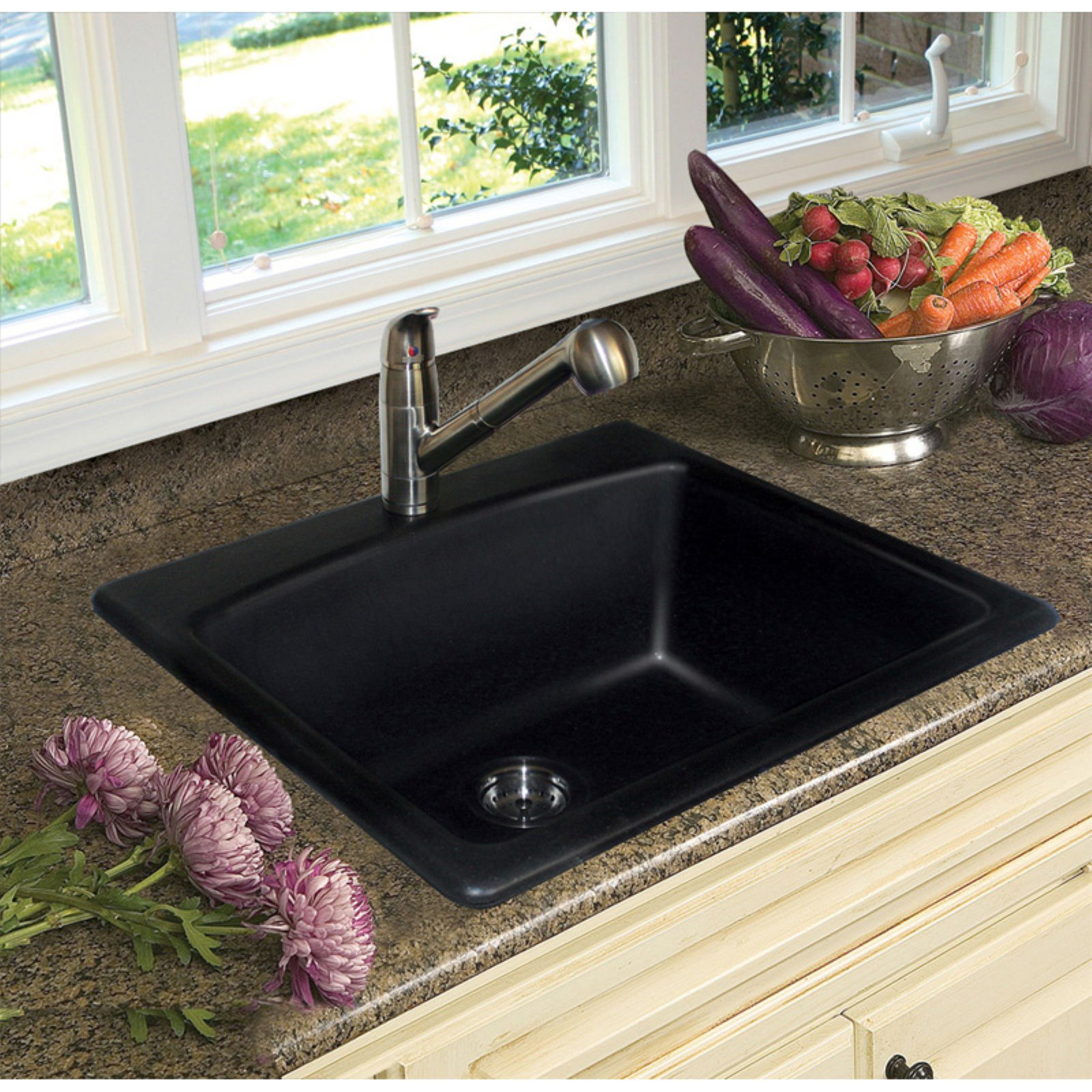 Foghorn Press ESOX25229-1 Single Basin Topmount Kitchen Sink