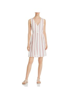 Vero Moda Womens Striped Mini Casual Dress