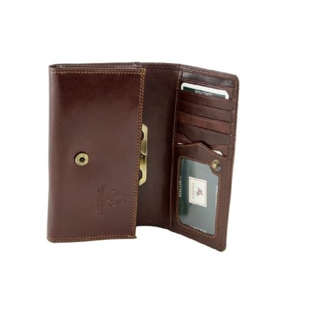Visconti Monza-12 Womens Large Italian Soft Leather Purse / Wallet (Brown) Brown Soft Italian