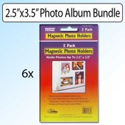 "Pioneer Photo Albums 2.5"" x 3.5"" Magnetic Photo Frame 2 Pack Bundle of 6"