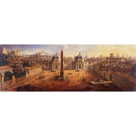 Piazza del Popolo Rome Poster Print by Gaspar van Wittel