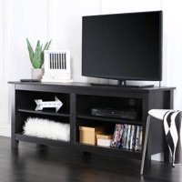 "Walker Edison Wood TV Media Storage Stand for TVs up to 64"" - Black"