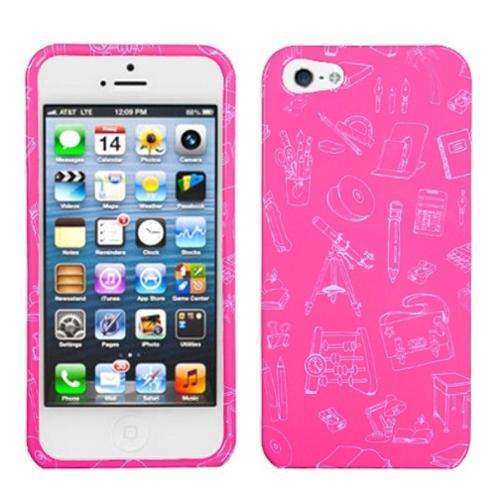 Insten School Life/Pink Phone Case for Apple iPhone SE / 5S / 5