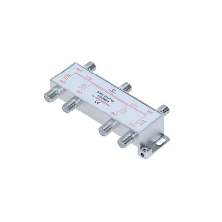6 Way 5-2300 MHz Coaxial Splitter for RG6 RG59 Coax Cable Satellite HDTV (6 Ports) Rg6 Cable Splitter