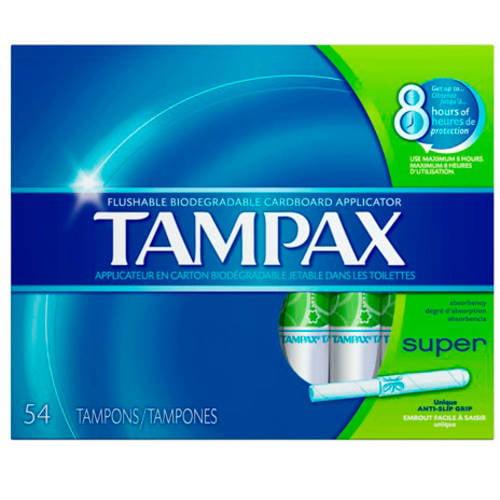 Tampax Anti-Slip Grip Cardboard Applicator Super Absorbency Tampons, (Choose your Count)