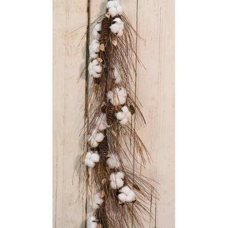 Gracie Oaks Cotton and Pinecone 40'' Garland