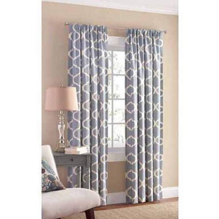 Mainstays Canvas Iron Work Curtain Panel - Walmart.com