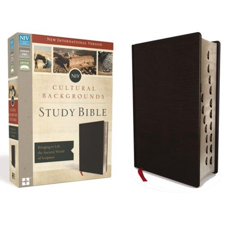 NIV, Cultural Backgrounds Study Bible, Indexed, Bonded Leather : Bringing to Life the Ancient World of Scripture