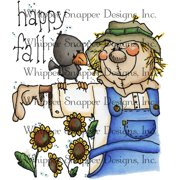"Whipper Snapper Cling Stamp 4""X6""-Fall Scarecrow"