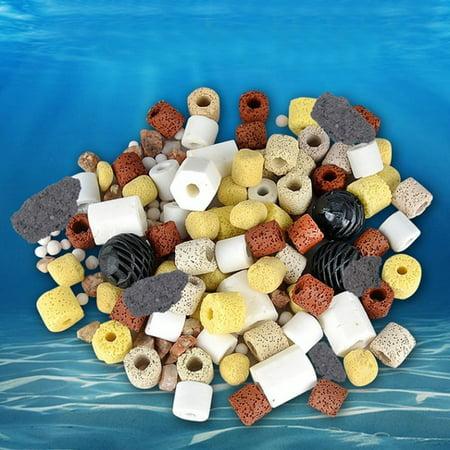 Ceramic Filter Rings - 420g Biological Ring Ball Group Filter Materia Ceramic Rings Filtration Media for Fish Tank