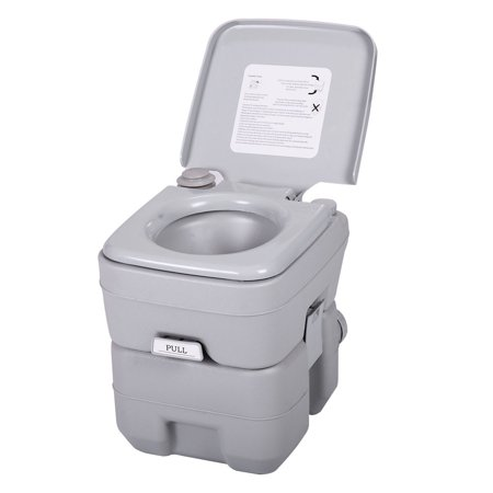 Zimtown 5 Gallon Motorhome Flushing Toilet, Removable Camper Porta Potty Commode, Great for Outdoor Indoor Camping - Outdoors Campers
