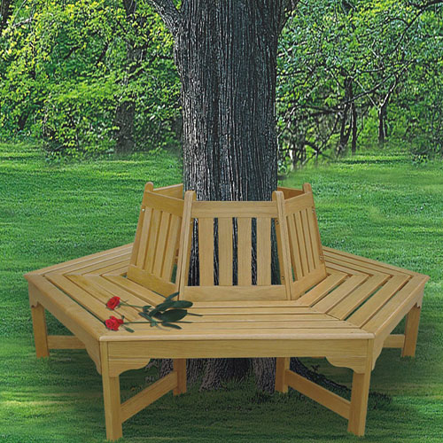 Wooden Tree Hugger Bench by DC AMERICA WHSE