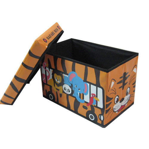NOYA USA Children's Animal Bus Folding Storage Ottoman