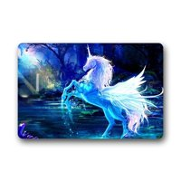 WinHome sparkling unicorn Doormat Floor Mats Rugs Outdoors/Indoor Doormat Size 23.6x15.7 inches
