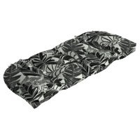 Mainstays Black and White Tropical 18x41.5in. Outdoor Wicker Settee Cushion
