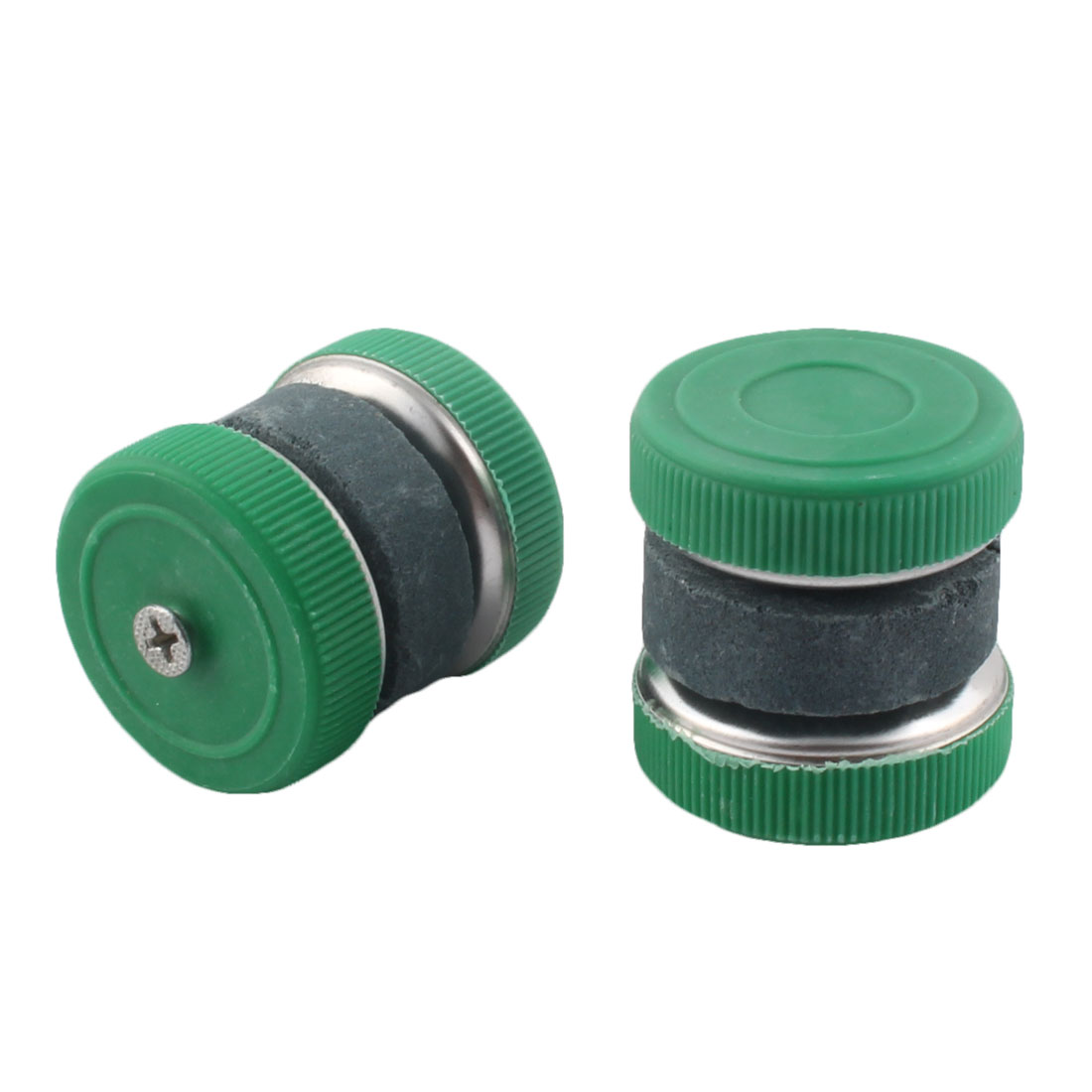 Household Cutter Scissors Grinder Whetstone Sharpener Tool Green Gray 2pcs by Unique-Bargains
