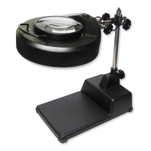 Carson MagniLampPro Hands-Free Magnifier Loupe, Black