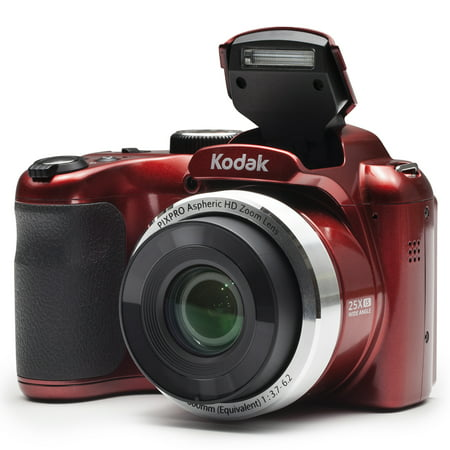 S210 Digital Camera - KODAK PIXPRO AZ252 Bridge Digital Camera - 16 MP - 25X Optical Zoom - HD 720p Video (Red)