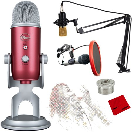 - BLUE MICROPHONES Yeti USB Microphone with Ultimate Recording Bundle - (Steel Red)