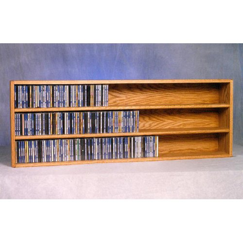 The Wood Shed Solid Oak Wall / Shelf Mount 354 CD Media Cabinet