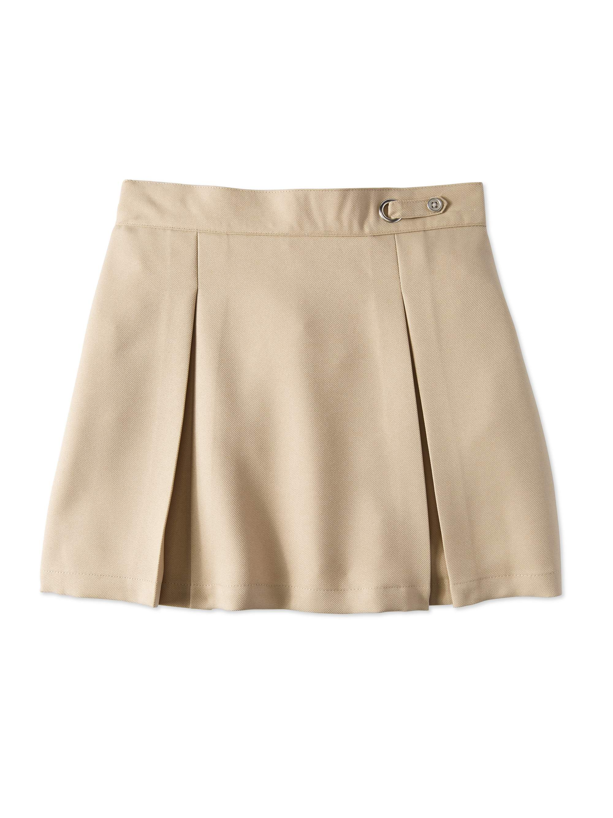 Girls Plus School Uniform Button Side Tab Scooter