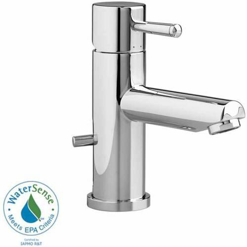 American Standard 2064.101.002 Serin Monoblock Lavatory Faucet with Metal Pop-Up Drain, Available in Various Colors