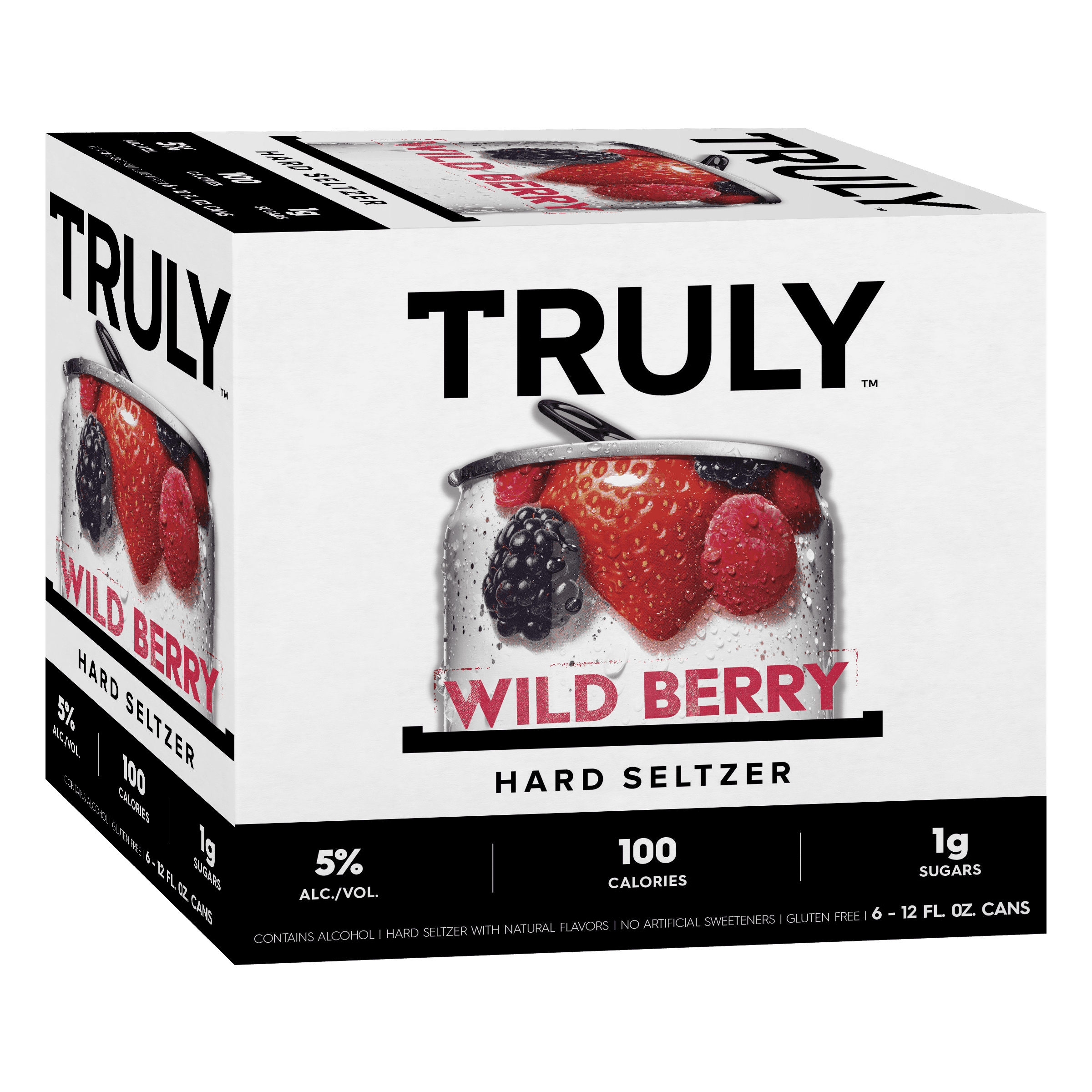 TRULY Hard Seltzer Wild Berry, 6pk, 12oz beer white cans, Gluten Free,  Light - Walmart.com - Walmart.com